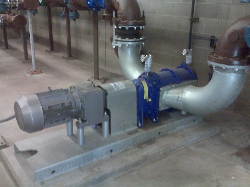 Vogelsang Sewage Pump Installed